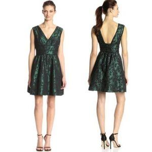 NWT JessicaSimpson Green Black Lace Cocktail Dress